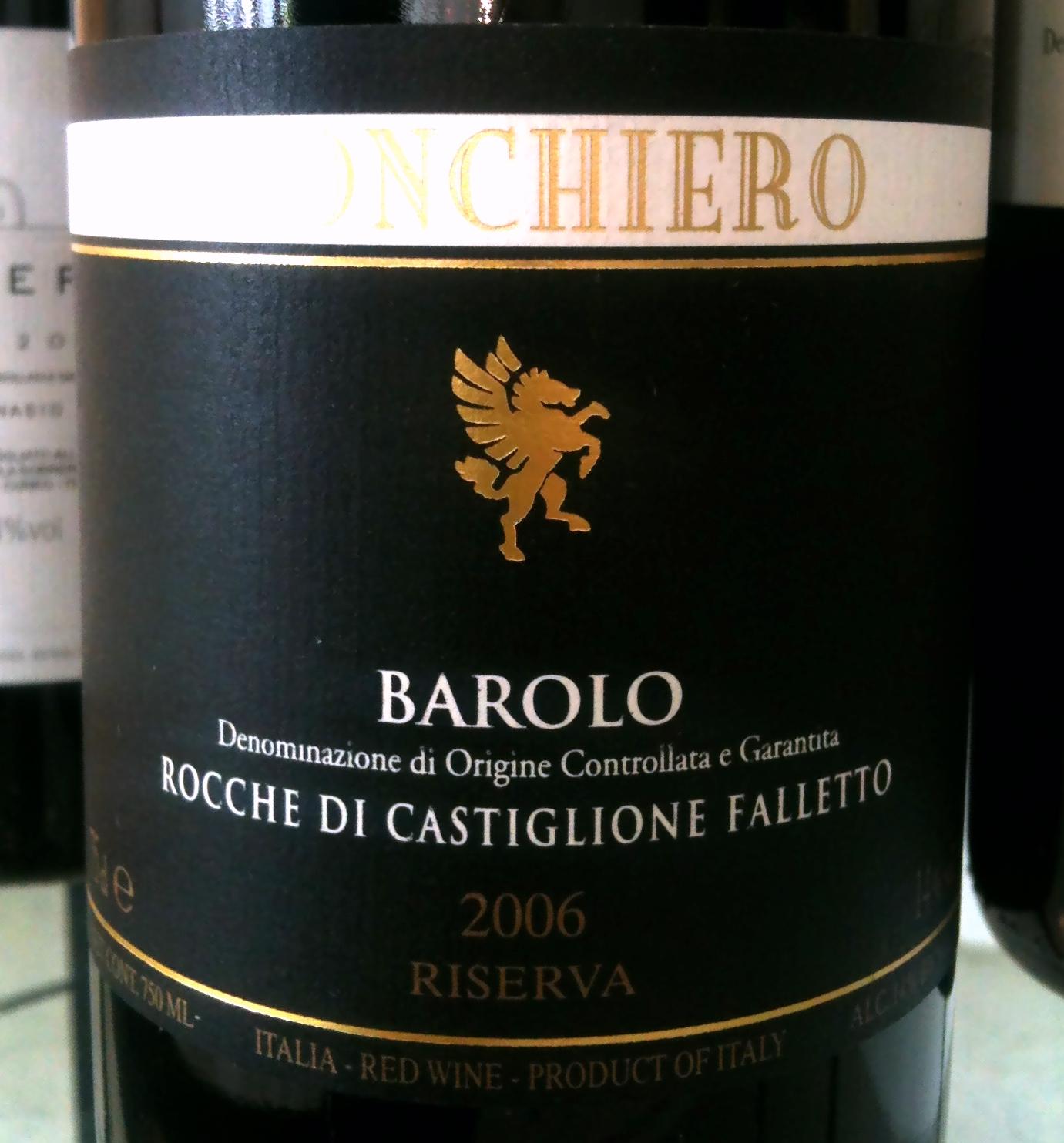 Monchiero Barolo Riserva Rocche di Castiglione Falletto 2006