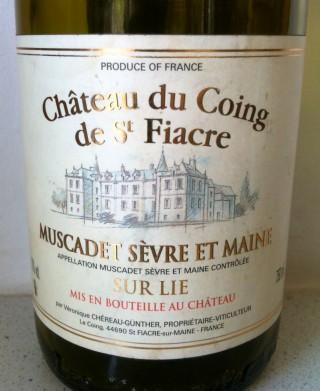 Château du Coing de Saint-Fiacre Muscadet 2005