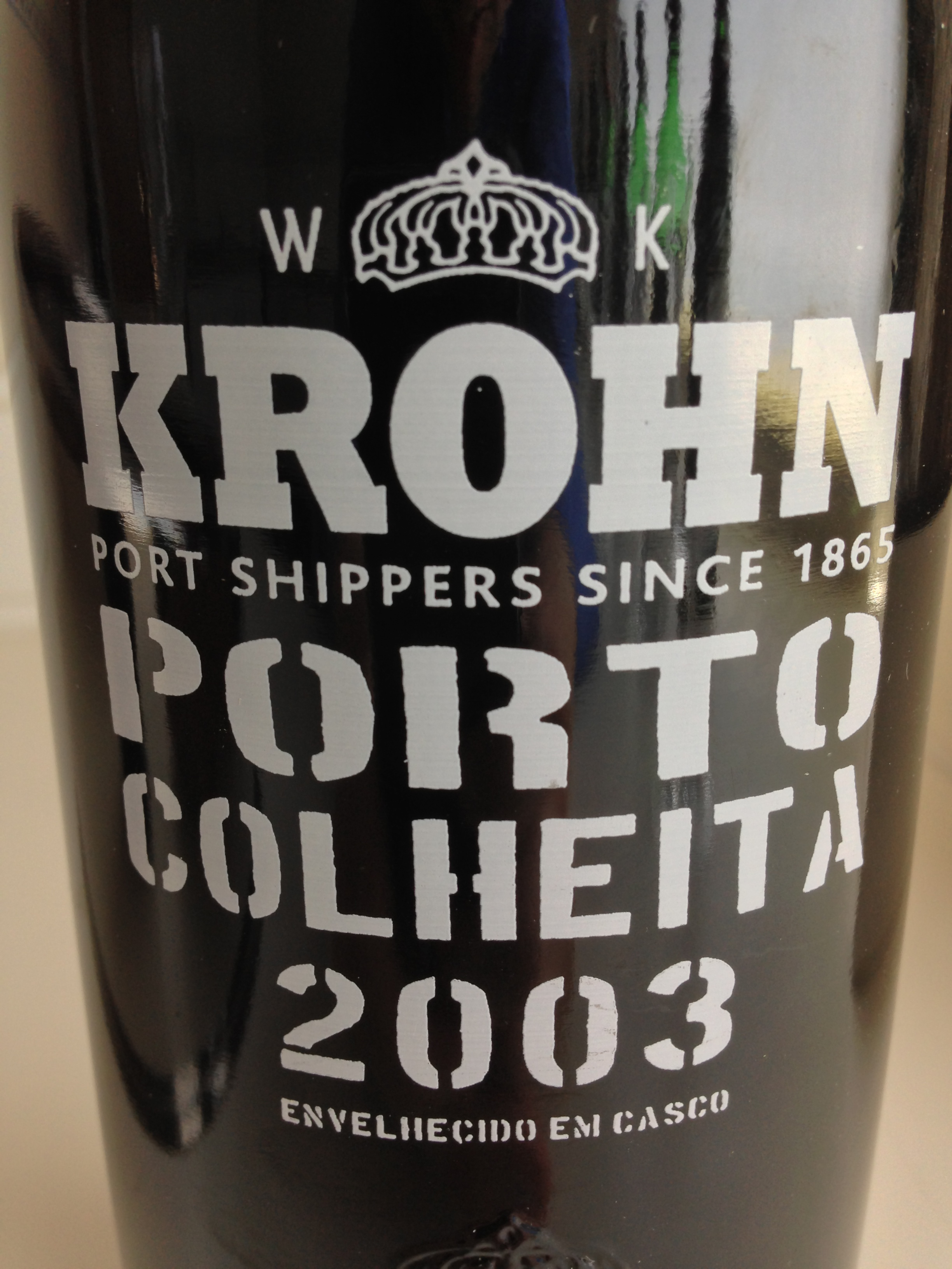Krohn Colheita 2003: this will be great… in many years.