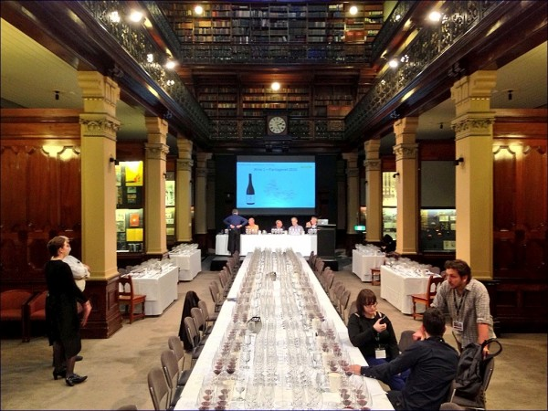 The tasting took place in the stunning 1880s State Library of South Australia.