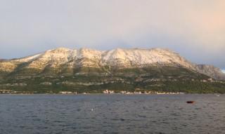 View of Pelješac from Korčula