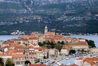 Korčula town panorama