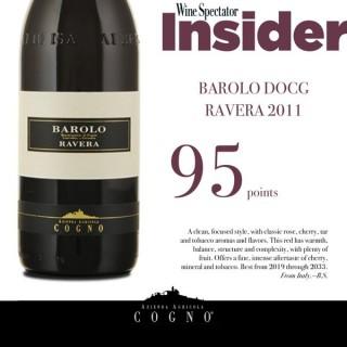 Elvio Cogno Barolo Ravera 2011 Wine Spectator score