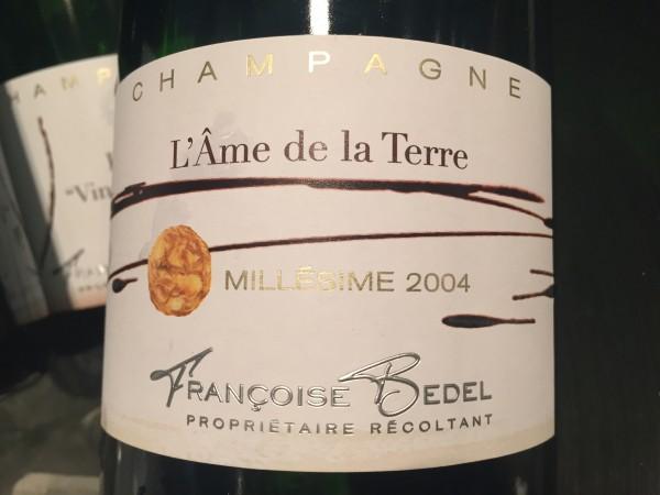 Françoise Bedel Champagne L'Âme de la Terre 2004