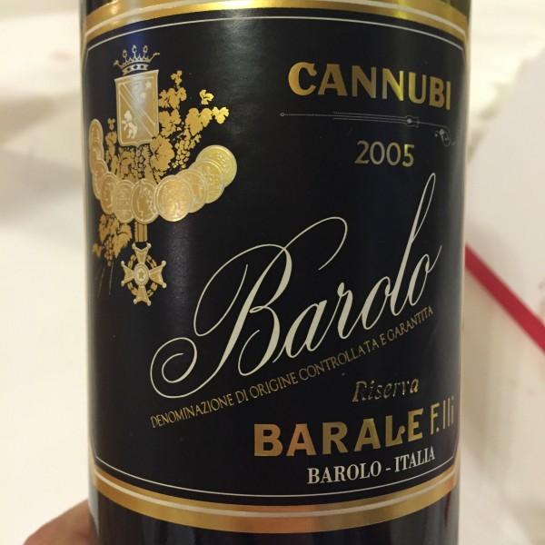 Barale Barolo Riserva Cannubi 2005