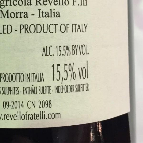 Barolo 2011 15.5% alcohol