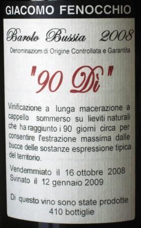 Giacomo Fenocchio 90-di-label